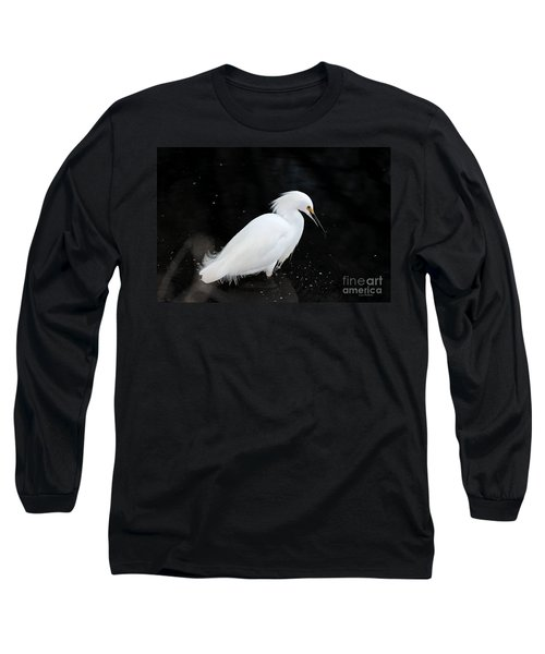 Young Snowy Egret Long Sleeve T-Shirt