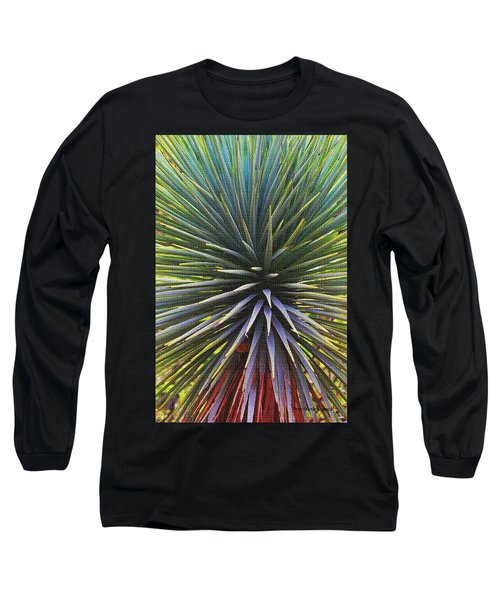 Yucca At The Arboretum Long Sleeve T-Shirt by Tom Janca