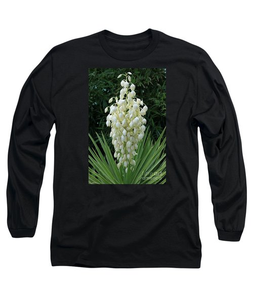 Yucca Blossoms Long Sleeve T-Shirt by Christiane Schulze Art And Photography