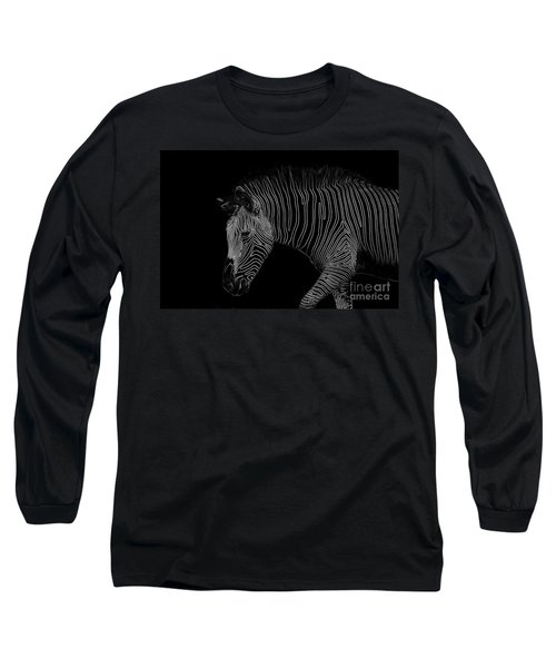 Zebra Art Long Sleeve T-Shirt by Bianca Nadeau