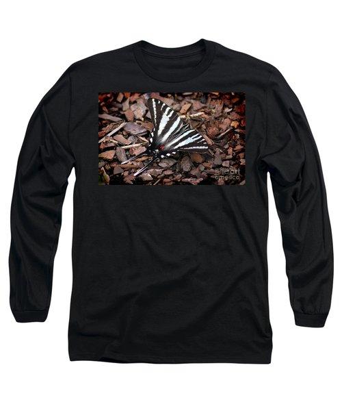 Zebra Swallowtail Butterfly Long Sleeve T-Shirt