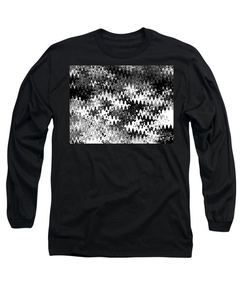 Long Sleeve T-Shirt featuring the digital art Zebras by Anita Lewis