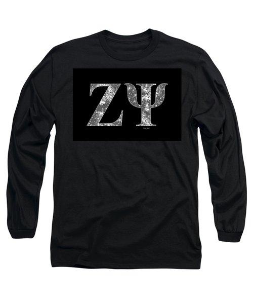 Zeta Psi - Black Long Sleeve T-Shirt by Stephen Younts