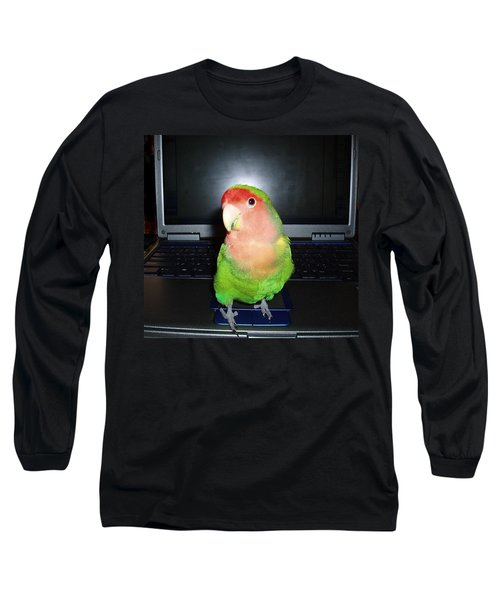 Long Sleeve T-Shirt featuring the photograph Zippy The Lovebird by Joan Reese