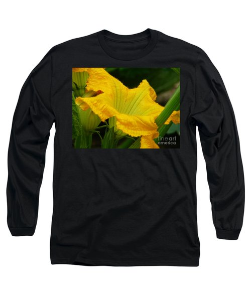 Long Sleeve T-Shirt featuring the photograph Zucchini Yellow by Lew Davis