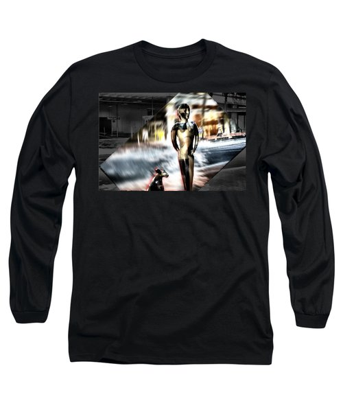 Long Sleeve T-Shirt featuring the mixed media  Critics by Terence Morrissey