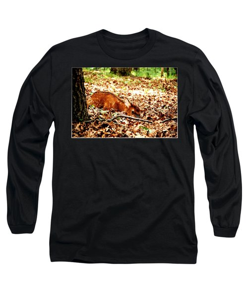 Long Sleeve T-Shirt featuring the photograph  Sweet Baby Elk by Peggy Franz