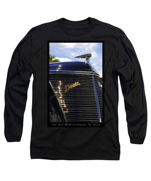 Long Sleeve T-Shirt featuring the photograph 1937 Ford Model 78 Cabriolet Convertible By Darrin by Gordon Dean II