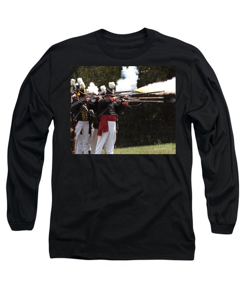 Long Sleeve T-Shirt featuring the photograph American Firing Line by JT Lewis