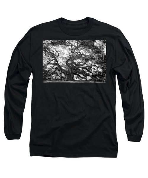 Angel Oak Long Sleeve T-Shirt by Lynne Jenkins