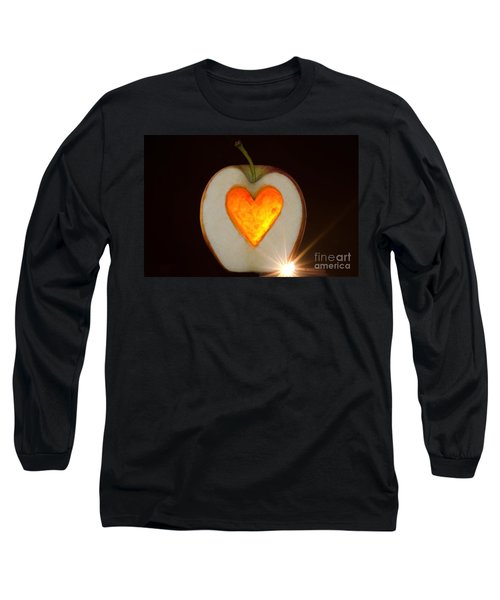 Apple With A Heart Long Sleeve T-Shirt