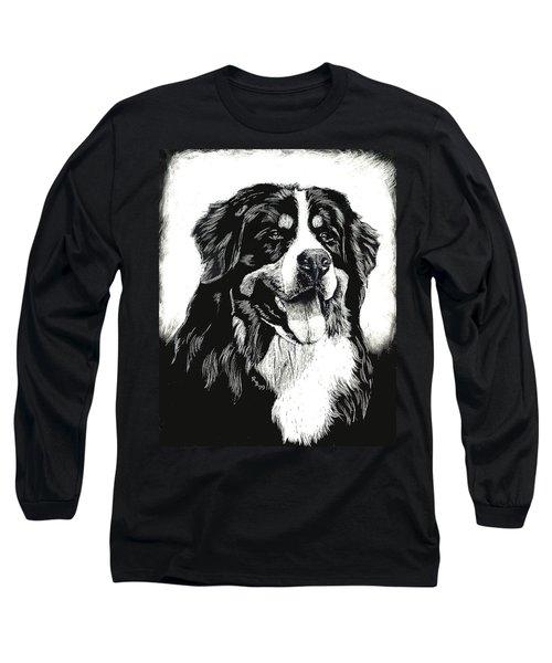 Bernese Mountain Dog Long Sleeve T-Shirt by Rachel Hames