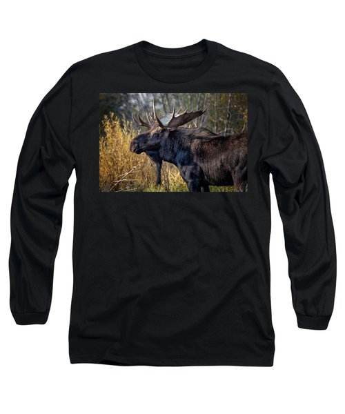 Bull Moose Long Sleeve T-Shirt by Ronald Lutz