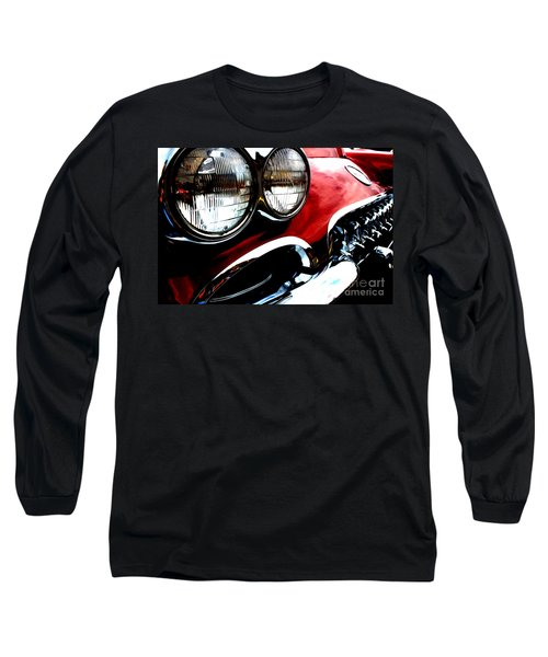 Long Sleeve T-Shirt featuring the digital art Classic Vette by Tony Cooper
