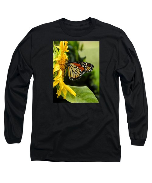 Monarch And The Sunflower Long Sleeve T-Shirt