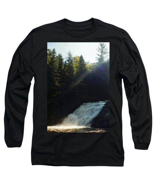 Morning Waterfall Long Sleeve T-Shirt by Stacy C Bottoms