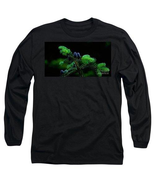 Mountain Life Long Sleeve T-Shirt by Sharon Elliott