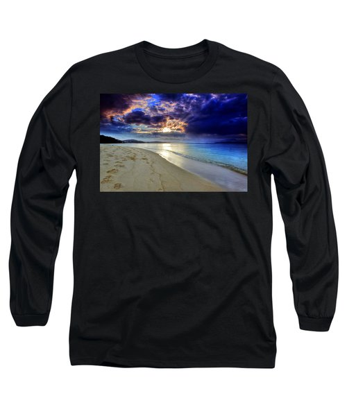 Port Stephens Sunset Long Sleeve T-Shirt by Paul Svensen