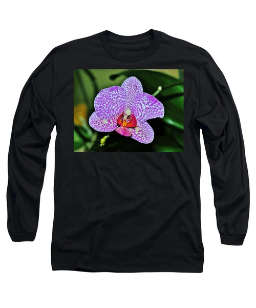 Long Sleeve T-Shirt featuring the photograph Purple Orchid by Sherman Perry