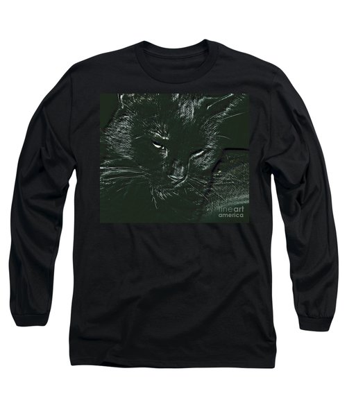 Long Sleeve T-Shirt featuring the photograph Satin by Donna Brown