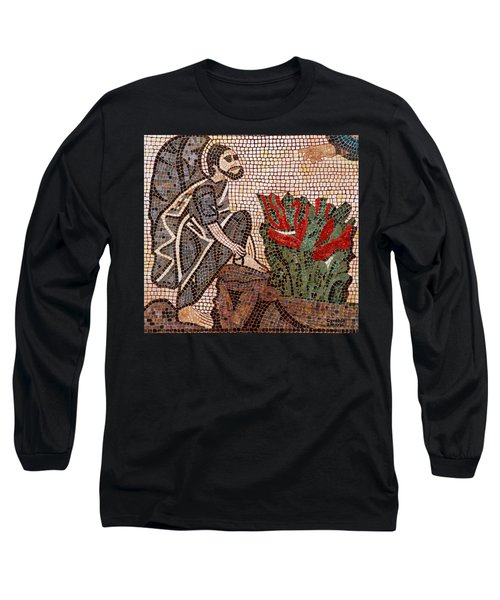 Long Sleeve T-Shirt featuring the painting Standing On Holy Ground by Cynthia Amaral