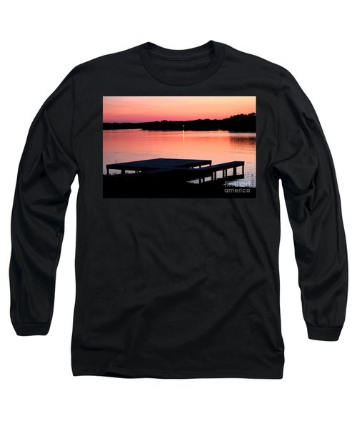 Long Sleeve T-Shirt featuring the photograph Sunset View From Dockside by Kathy  White
