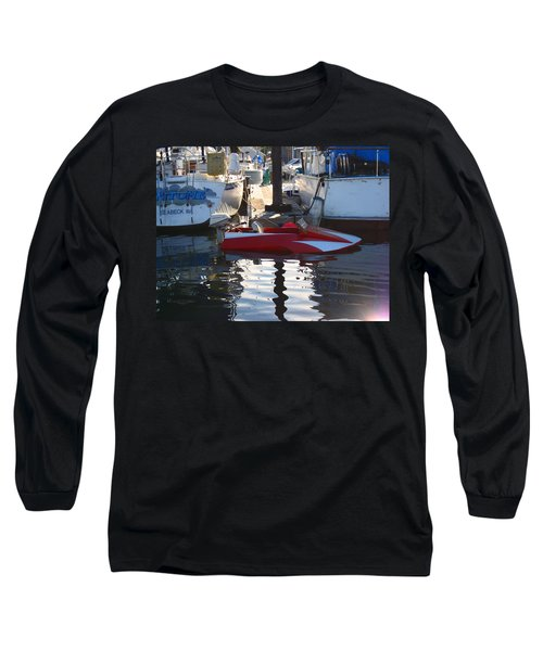 Long Sleeve T-Shirt featuring the photograph 1950's Custom Hydroplane by Kym Backland