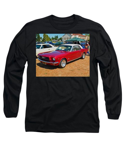 Long Sleeve T-Shirt featuring the photograph 1964 Ford Mustang by Tikvah's Hope