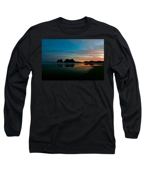 Golden Morning At A Beach  Long Sleeve T-Shirt