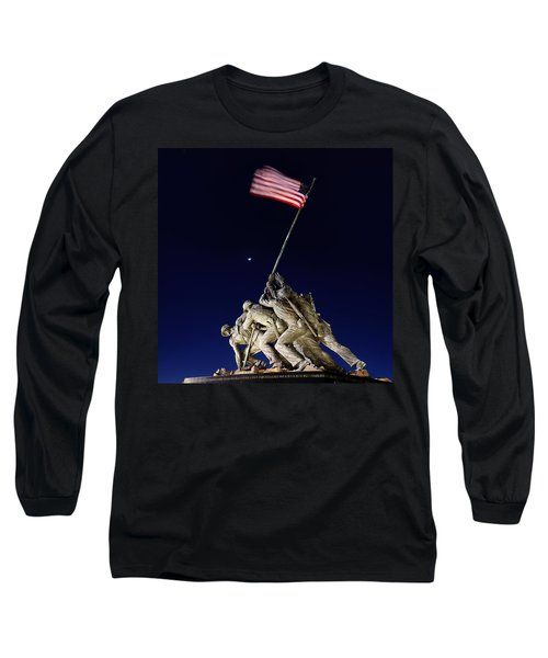 Iwo Jima Memorial At Dusk Long Sleeve T-Shirt
