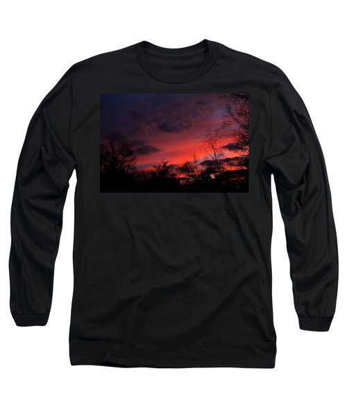Long Sleeve T-Shirt featuring the photograph 2012 Sunrise In My Back Yard by Paul SEQUENCE Ferguson             sequence dot net