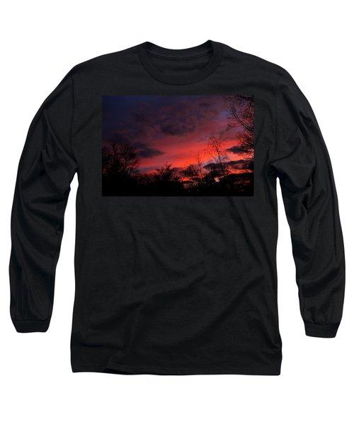 2012 Sunrise In My Back Yard Long Sleeve T-Shirt by Paul SEQUENCE Ferguson             sequence dot net