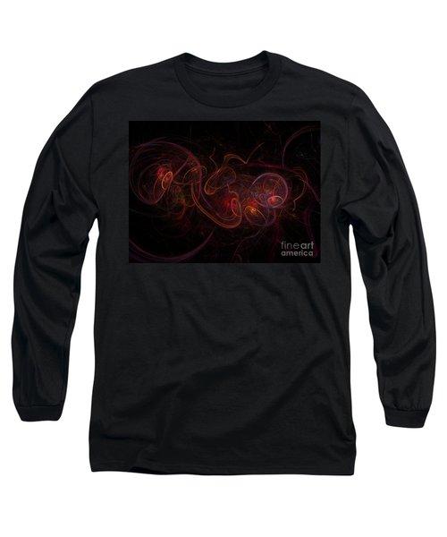 Fractal Long Sleeve T-Shirt by Henrik Lehnerer