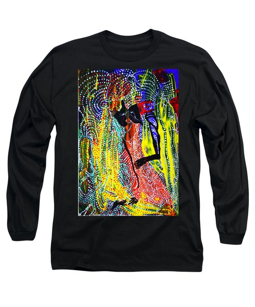 Long Sleeve T-Shirt featuring the painting Jesus And Mary by Gloria Ssali