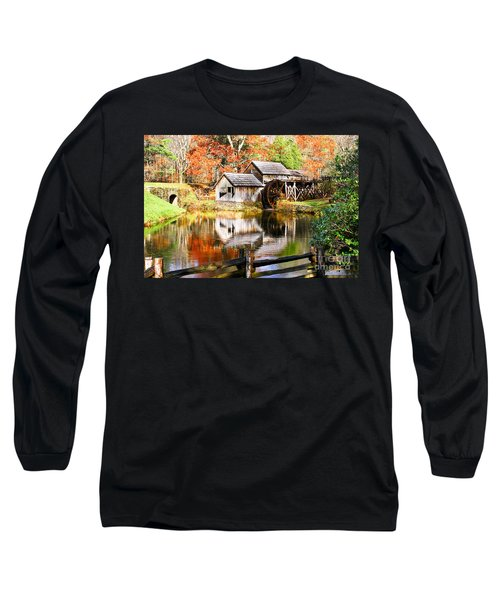 Mabry Mill Long Sleeve T-Shirt by Ronald Lutz