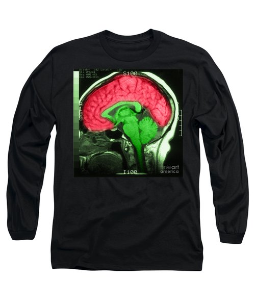 Mri Of Normal Brain Long Sleeve T-Shirt
