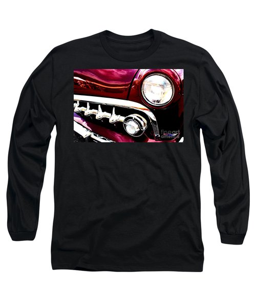 Long Sleeve T-Shirt featuring the digital art 49 Ford by Tony Cooper