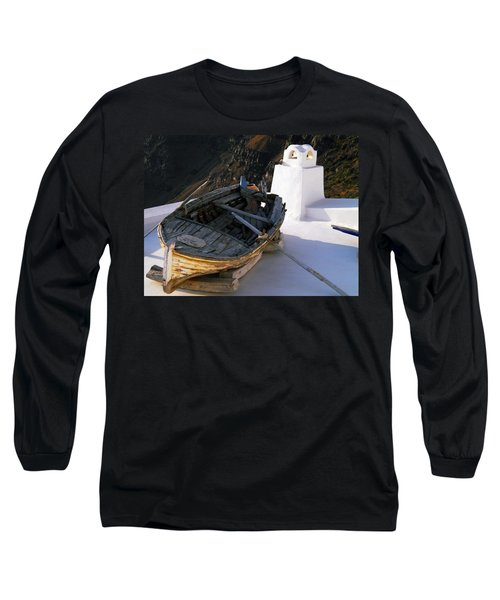 Long Sleeve T-Shirt featuring the photograph Santorini Greece by Colette V Hera  Guggenheim