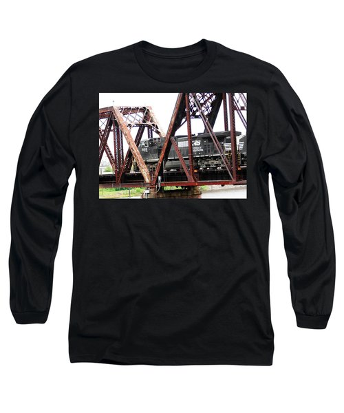 Long Sleeve T-Shirt featuring the photograph 9215 Southern Cargo Train by Ester  Rogers