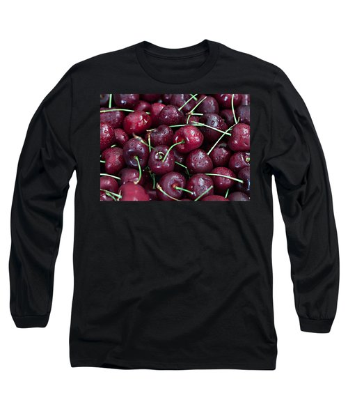 Long Sleeve T-Shirt featuring the photograph A Cherry Bunch by Sherry Hallemeier