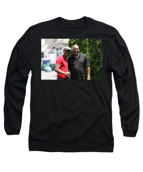 Long Sleeve T-Shirt featuring the photograph A Friend Bernard Hopkins by Paul SEQUENCE Ferguson             sequence dot net