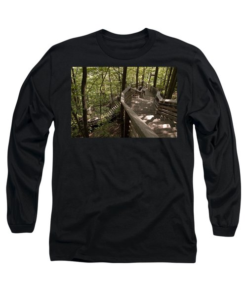 Long Sleeve T-Shirt featuring the photograph A Long Way Down by Jeannette Hunt