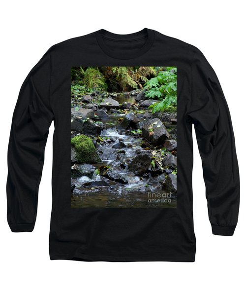 Long Sleeve T-Shirt featuring the photograph A Peaceful Stream by Chalet Roome-Rigdon