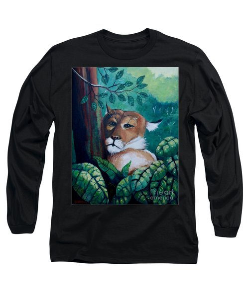 A Slightly Shy Furtive Look Long Sleeve T-Shirt