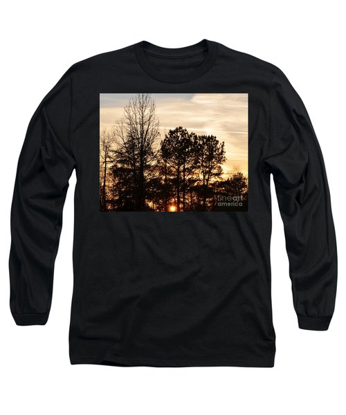 A Winter's Eve Long Sleeve T-Shirt by Maria Urso