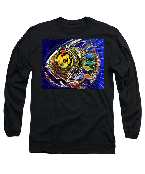 Abstract Busy Bee Fish Long Sleeve T-Shirt