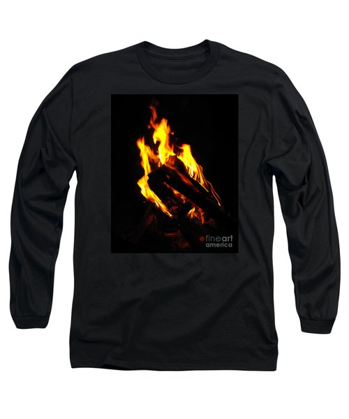 Abstract Phoenix Fire Long Sleeve T-Shirt by Rebecca Margraf