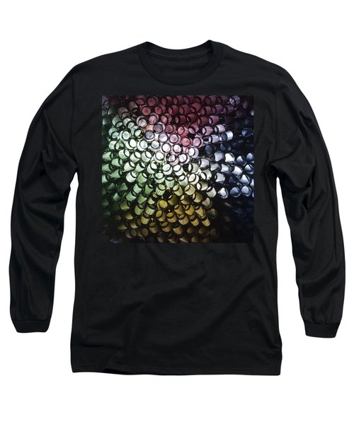 Long Sleeve T-Shirt featuring the photograph Abstract Straws by Steve Purnell