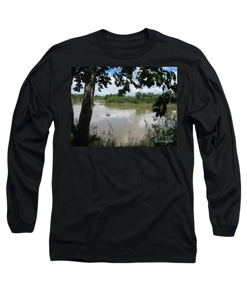Agusan River Near Ja Pao Long Sleeve T-Shirt