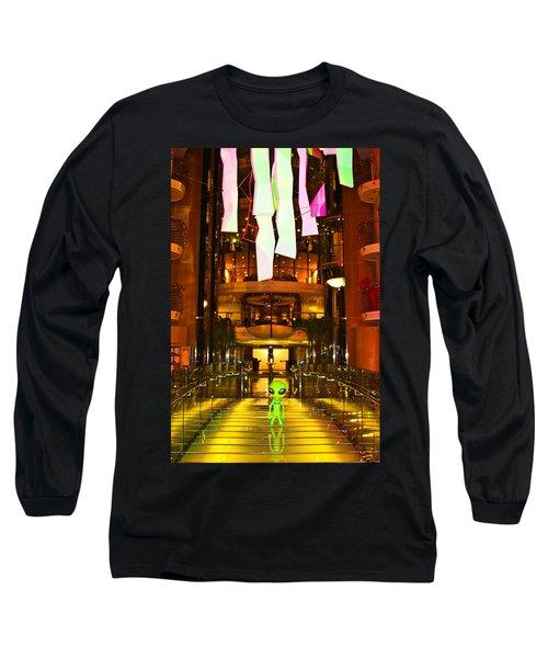 Alien On The Tp'd Bridge  Long Sleeve T-Shirt